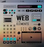 Vector Web Elements, Buttons and Labels. Site Navigation. Stock Images