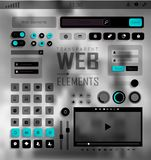 Vector Web Elements, Buttons and Labels. Site Navigation. Royalty Free Stock Photo