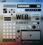 Vector Web Elements, Buttons and Labels. Site Navigation. Stock Image