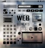 Vector Web Elements, Buttons and Labels. Site Royalty Free Stock Photos