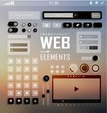 Vector Web Elements, Buttons and Labels. Site Stock Images