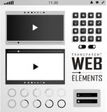 Vector Web Elements, Buttons and Labels. Site Stock Image