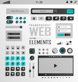 Vector Web Elements, Buttons and Labels. Site Royalty Free Stock Image