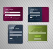 Vector web elements, with the effect of glass Stock Photography
