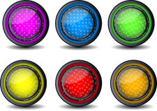 Vector Web glossy button Royalty Free Stock Photography
