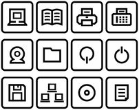 Vector Web Icon Set Stock Photos