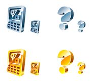 Vector web icons. Isolated on white Royalty Free Stock Photos