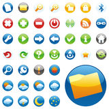 Vector web icons Royalty Free Stock Photography