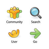 Vector web icons 2 Stock Photography