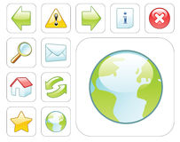 Vector web icons. Glossy colorful web icons on white background Royalty Free Illustration