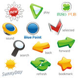 Vector web icons Stock Images