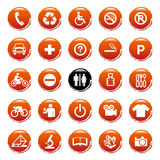 Vector Web icons, buttons. Round series. Web icons, buttons. Round series Royalty Free Stock Photos