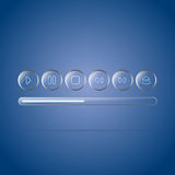 Vector web icons collection Stock Image