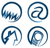 Vector web icons for contact info Stock Photo