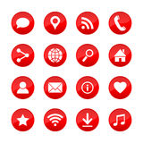 Vector web icons for media, communication, business, mobile and meteorology.. Royalty Free Stock Photos