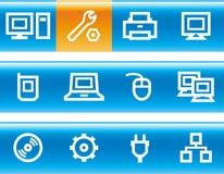 Vector web icons set – Hardware. Original icons for web, software etc. on white background royalty free illustration