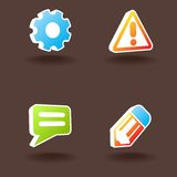 Vector web icons. Set 1. Stock Image