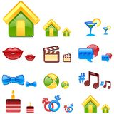 Vector web icons. Set 1. Royalty Free Stock Photo