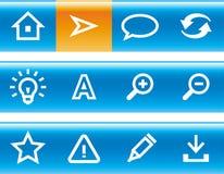 Vector web icons set royalty free illustration