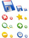 Vector WEB icons. Set 2. Royalty Free Stock Photography