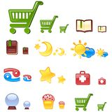 Vector web icons. Set 2. Stock Images