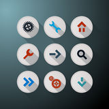 Vector Web Icons Set Stock Photography