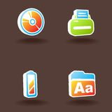 Vector web icons. Set 7 Stock Photos