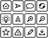 Vector web icons set Stock Photos