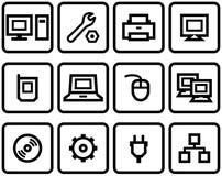 Vector Web Icons Set – Hardware Royalty Free Stock Photography