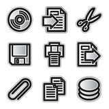 Vector web icons, silver contour files Stock Photography