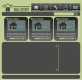 Vector web layout Royalty Free Stock Image