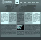 Vector web layout stock photography