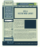 Vector web layout Stock Photos