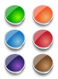 Vector web metal button set design. Eps10 Royalty Free Stock Images