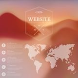 Vector web and mobile interface background. Royalty Free Stock Photos