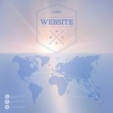 Vector web and mobile interface background. Royalty Free Stock Photography