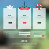 Vector web and mobile interface template. Royalty Free Stock Photography