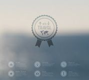 Vector web and mobile interface template. Travel corporate website design. Minimalistic   backdrop. Vector. Editable. Blurred. Tri Stock Image