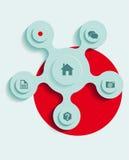 Vector web navigation. Elements Design ,Vector web navigation Stock Image