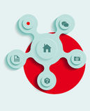Vector web navigation Stock Image