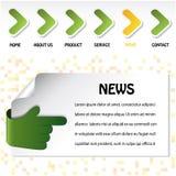 vector web navigation template Royalty Free Stock Image