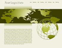 Vector Web Page Template Royalty Free Stock Images