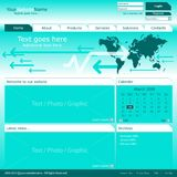 Vector web page template Stock Photography