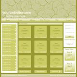Vector web page template Royalty Free Stock Photo