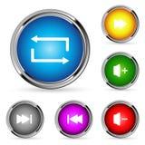 Vector web player buttons Stock Photos
