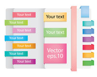 Vector Web Ribbons. Stock Photo