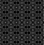 Vector a Web sem emenda moderna do teste padrão da geometria, preto e branco Fotografia de Stock