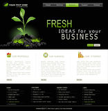 Vector Web site for business Royalty Free Stock Image