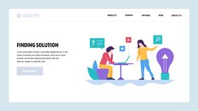 Vector web site design template. Business solution and new creative idea. Landing page concepts for website and mobile. Development. Modern flat illustration vector illustration