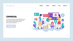 Vector web site design template. Digital marketing and business commercial advertisement. Landing page concepts for. Website and mobile development. Modern flat vector illustration